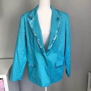 Quacker Factory Blue Blazer L
